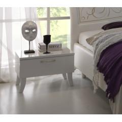 chevet design laqué blanc