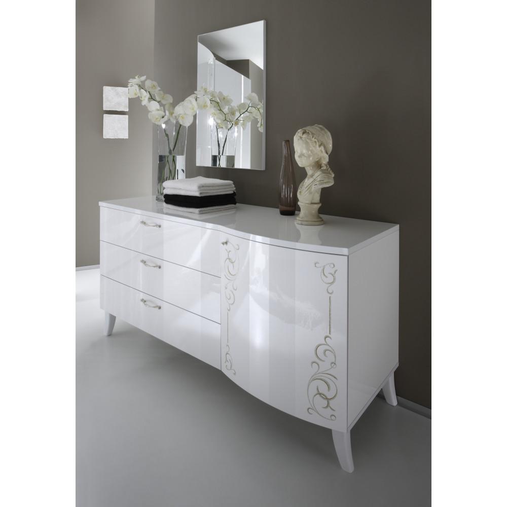 Chambre laqu blanc brillant chambre bebe blanc laque la for Commode chambre parentale