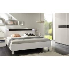 Lit design laqué blanc 160 x 200