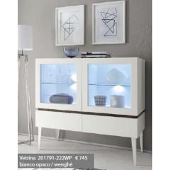 Bahut vaisselier design XAR 2 portes 2 tiroirs blanc