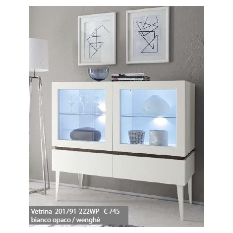bahut vaisselier design 2 portes 2 tiroirs blanc. Black Bedroom Furniture Sets. Home Design Ideas
