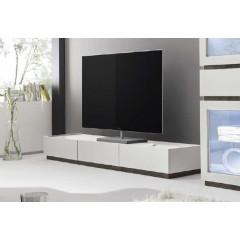 Meuble TV design XAR 3 tiroirs blanc