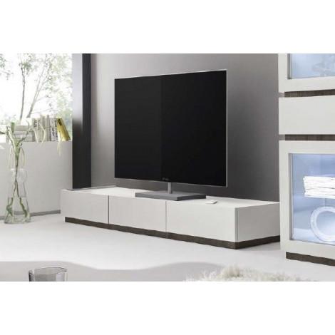 Meuble TV 3 tiroirs blanc XAR