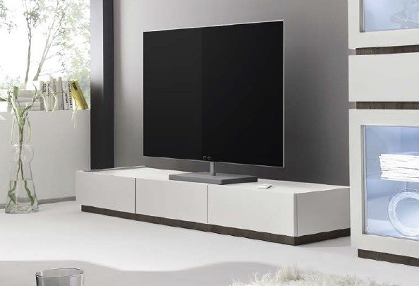 Meuble tv design 3 tiroirs blanc - Meuble tele blanc design ...