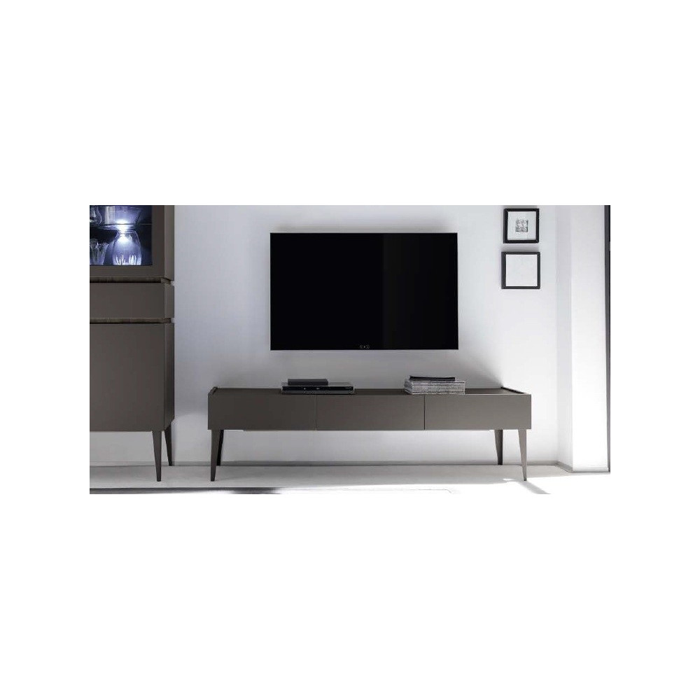 meuble tv sur pied meuble tv sur pied laqu blanc wozo meuble tv design xar 3 tiroirs gris mat. Black Bedroom Furniture Sets. Home Design Ideas