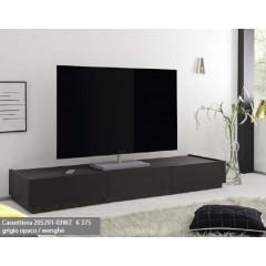 Meuble TV design XAR 3 tiroirs Gris Mat