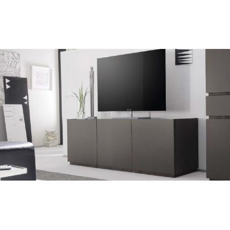 bahut bas design xar 3 portes gris mat. Black Bedroom Furniture Sets. Home Design Ideas