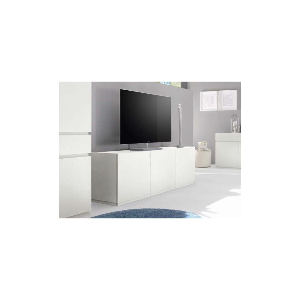 bahut bas design xar 3 portes blanc. Black Bedroom Furniture Sets. Home Design Ideas