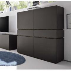 Bahut vaisselier design XAR 4 Portes 2 Tiroirs blanc