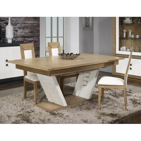 Table PUZZLE - Chêne massif Blanc et chêne 180/280 cm
