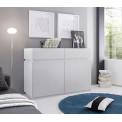 Bahut Bas design XAR 2 portes 2 tiroirs blanc