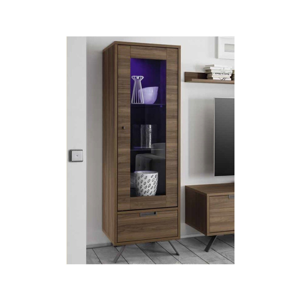 bahut haut messina vitrine 1porte. Black Bedroom Furniture Sets. Home Design Ideas
