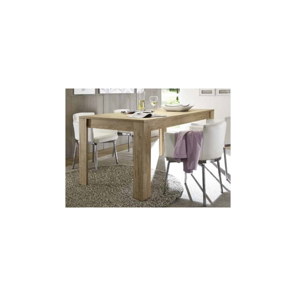 Table de repas palma 140 x 90 cm ch ne clair for Table cuisine 140 x 90