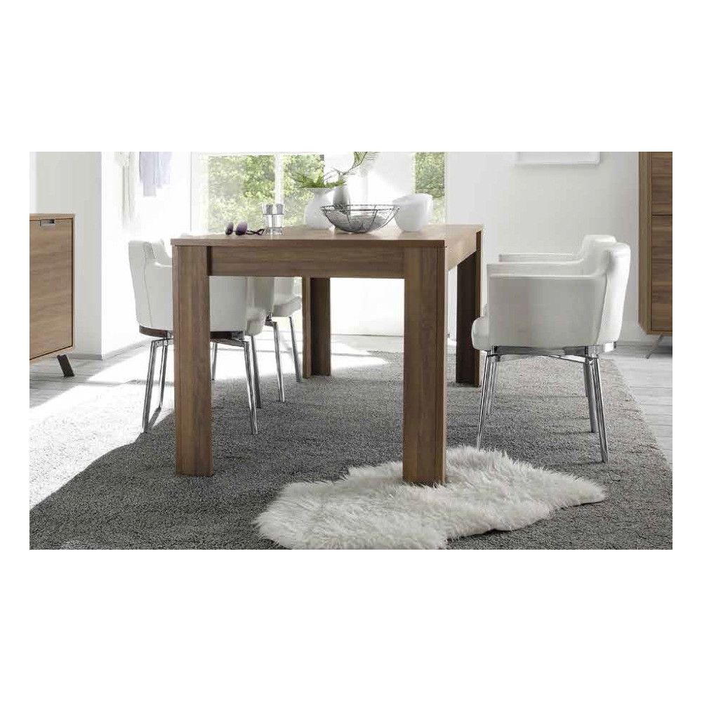 Table de repas messina 140 x 90 cm teinte noyer for Table cuisine 140 x 90