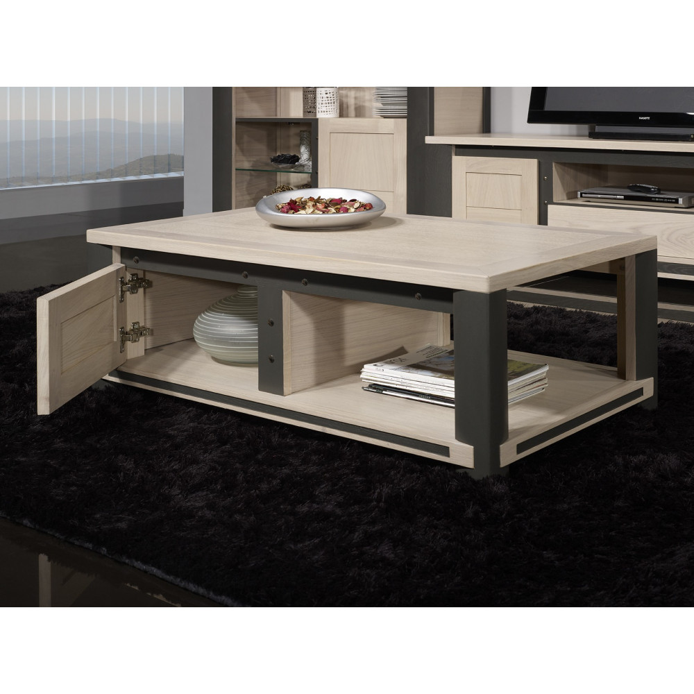 table basse de salon innova ch ne massif. Black Bedroom Furniture Sets. Home Design Ideas