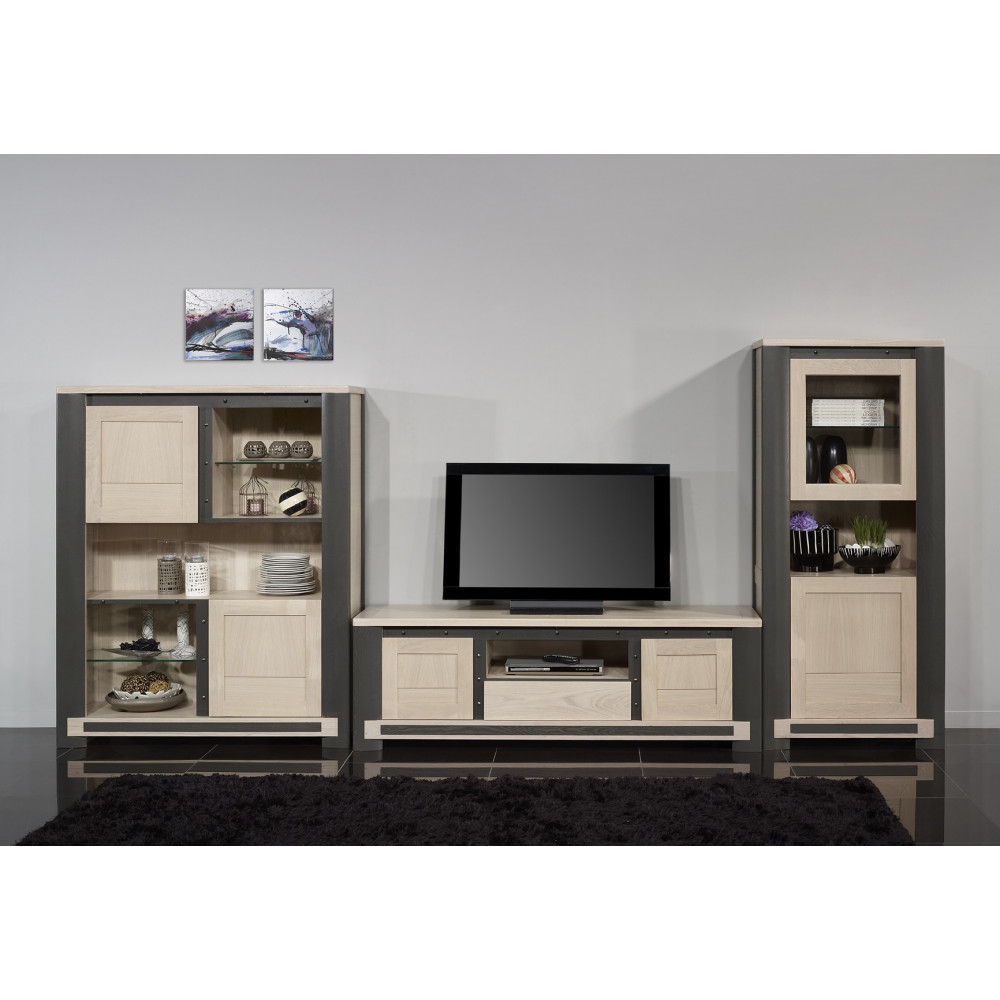 meuble tv innova ch ne massif. Black Bedroom Furniture Sets. Home Design Ideas