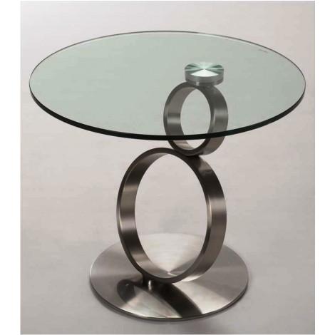 Table basse neo verre et acier chrom bross for Table basse acier et verre