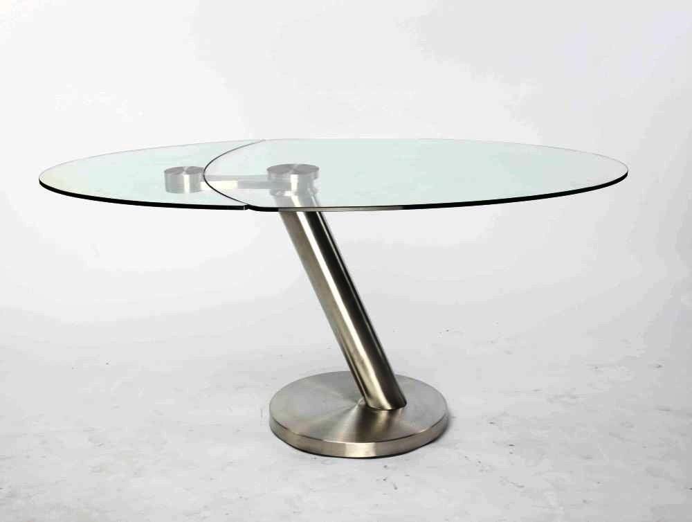 Table basse city verre et acier chrom bross - Table basse verre et acier ...