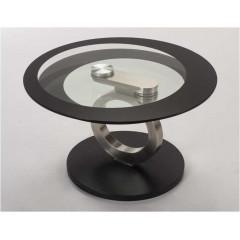 Table  Basse Verre et acier chromé ARCHE
