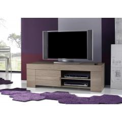 Meuble TV AURORE chêne grisé