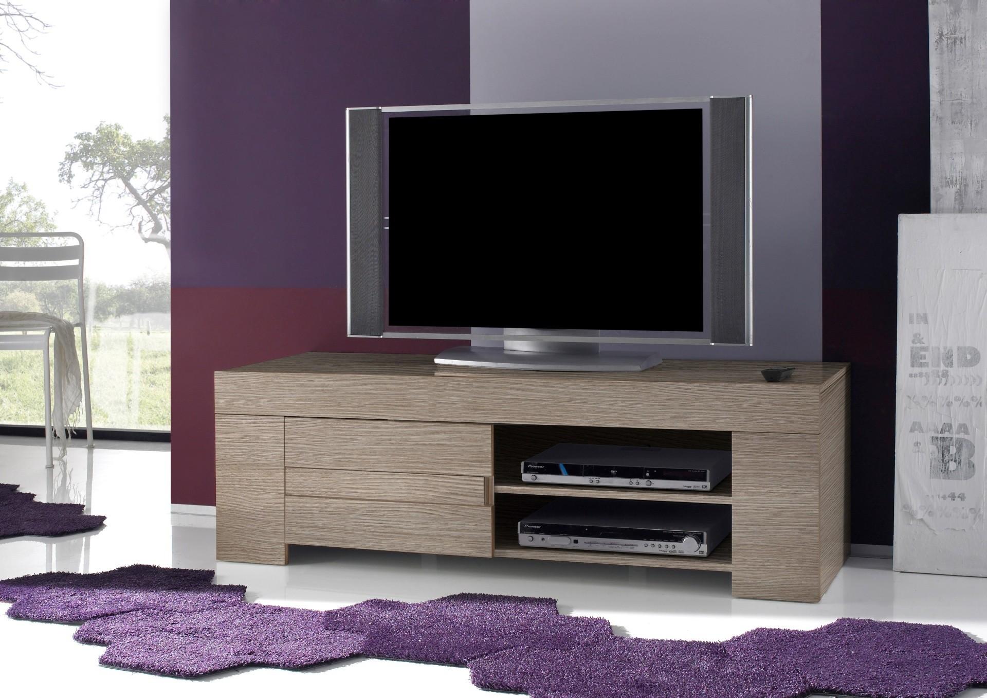 Meuble Tv Noyer 1 Portes 1 Niche Fabriqu En Italie # Meuble Tv Violet