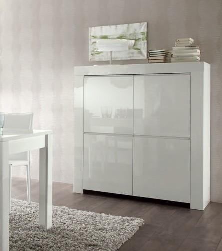 bahut moderne blanc 120 cm a prix discount