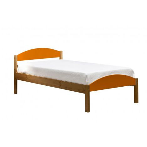 Lit  Pin massif  90 x 190 ou 200 cm Orange