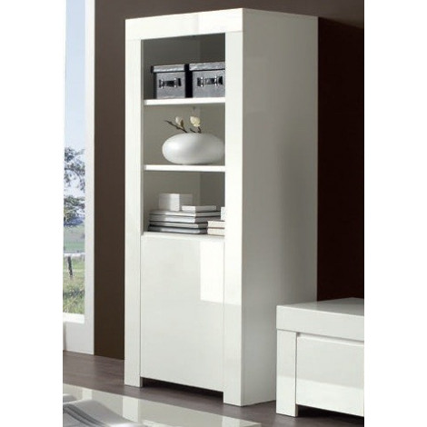 bahut biblioth que moderne blanc a prix discount. Black Bedroom Furniture Sets. Home Design Ideas