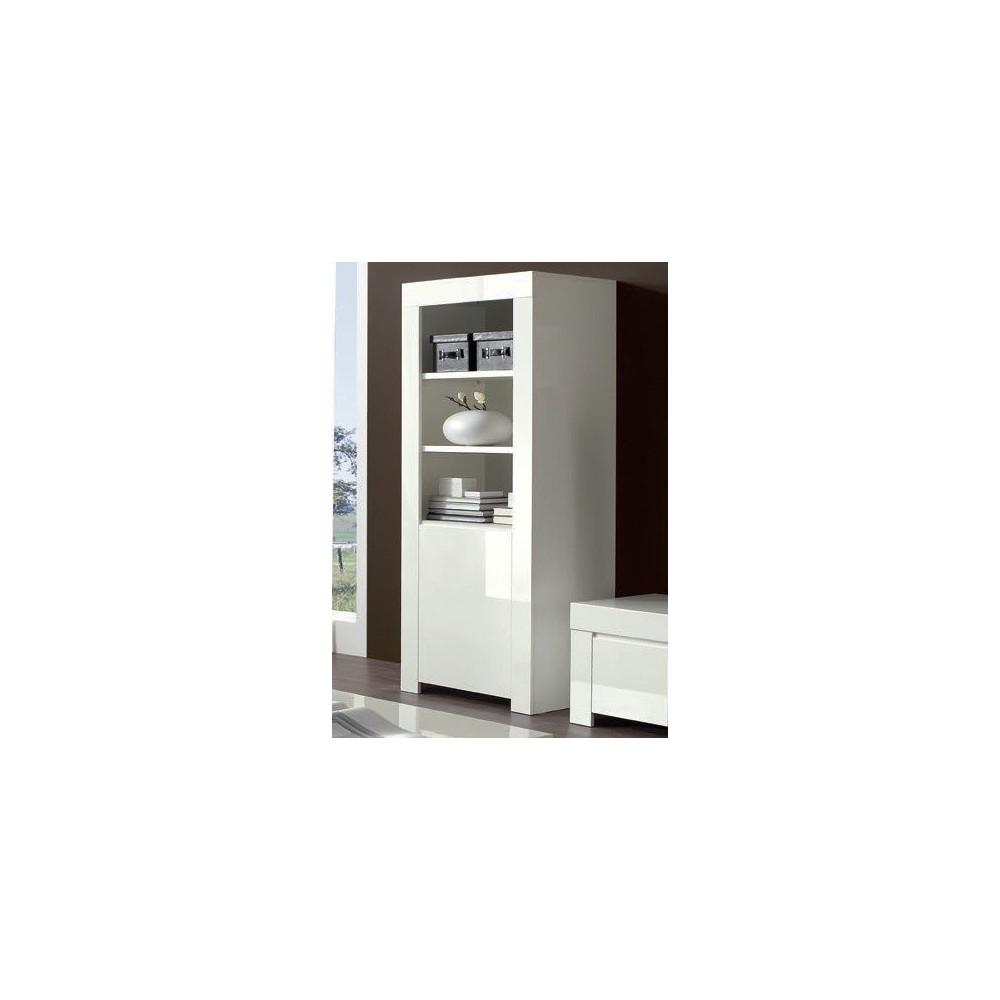 bahut biblioth que moderne blanc a prix discount. Black Bedroom Furniture Sets. Home Design Ideas