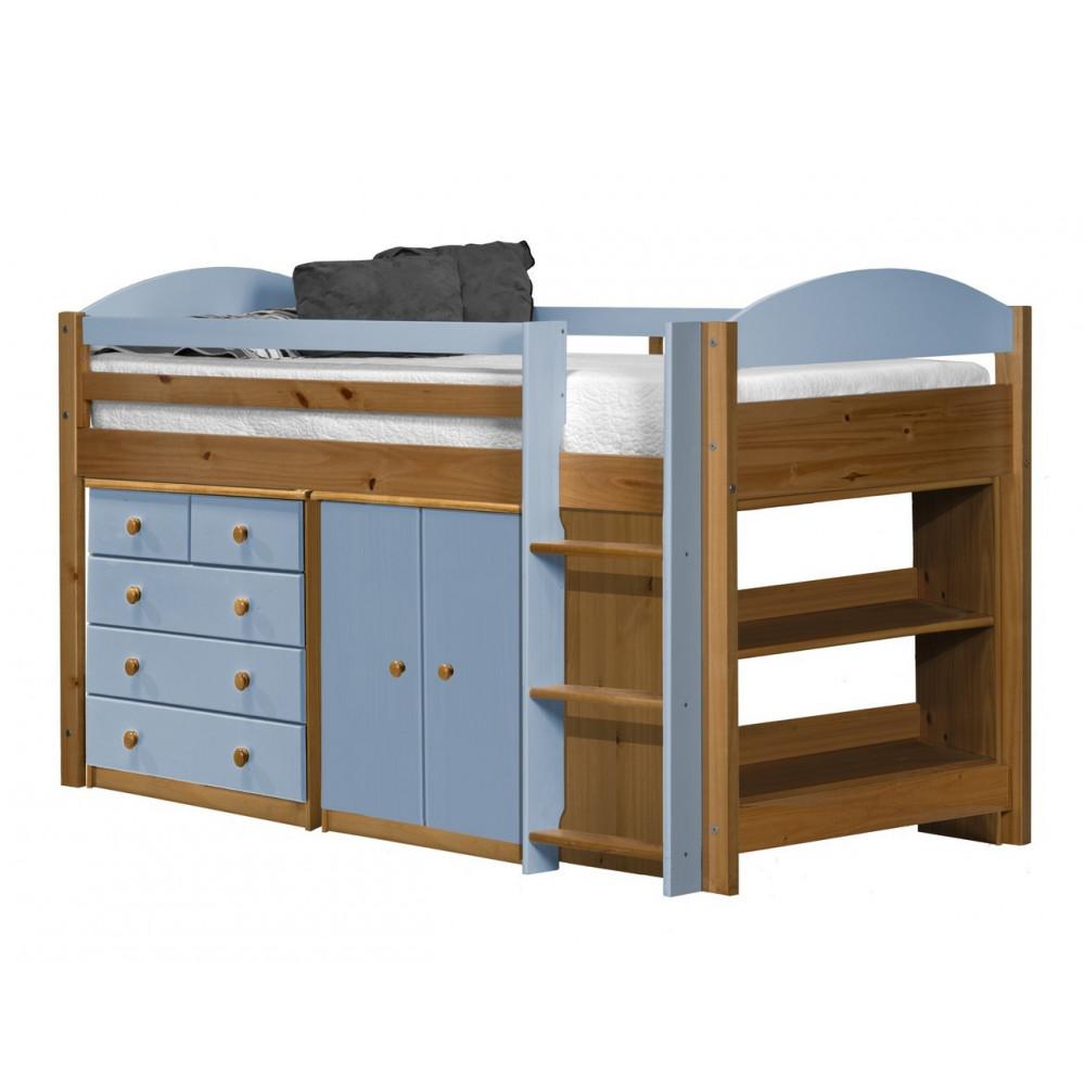 lit integre lit et meubles 90x190 90x200 pin massif miel. Black Bedroom Furniture Sets. Home Design Ideas