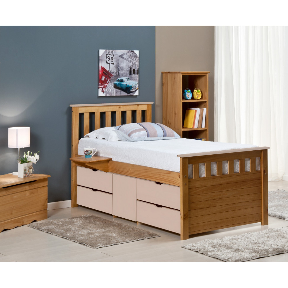 lit coffre et meubles 90x190 90x200 pin massif 11 couleurs. Black Bedroom Furniture Sets. Home Design Ideas