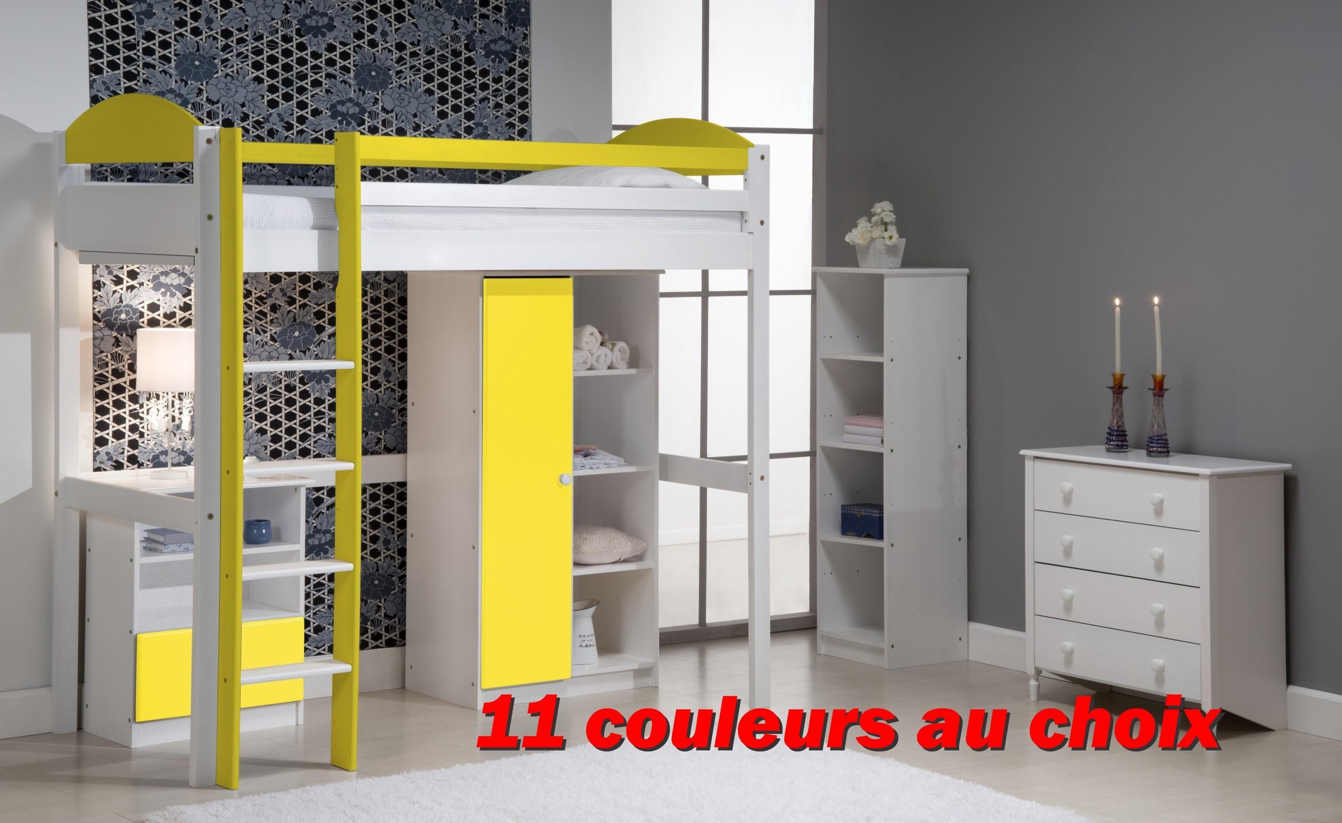 lit mezzanine armoire
