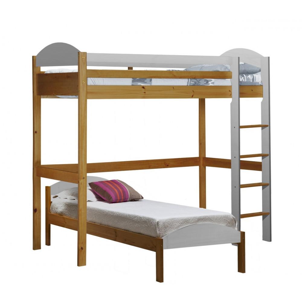 lit superpos s 90x190 200 pin massif miel antique 11 coloris. Black Bedroom Furniture Sets. Home Design Ideas