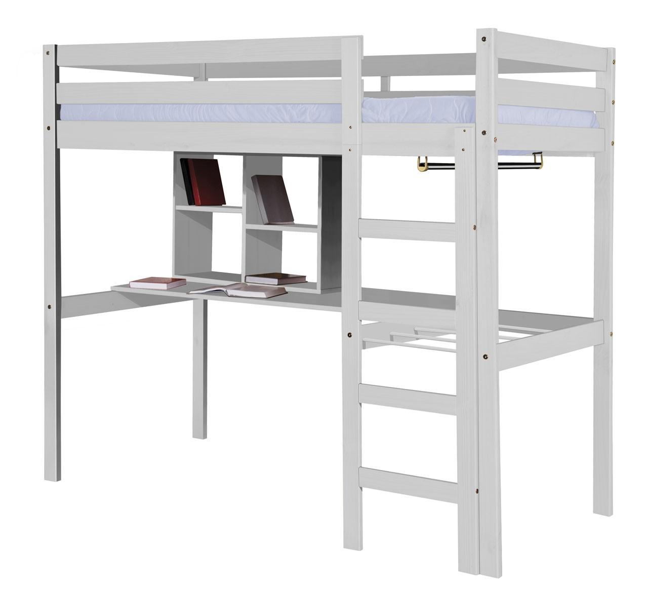 Lit m zzanine et meubles int gr s 90x190 90x200 pin massif for Meuble mezzanine