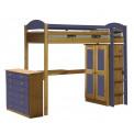 Lit superposés  et armoire  Pin massif Miel antique +11 coloris