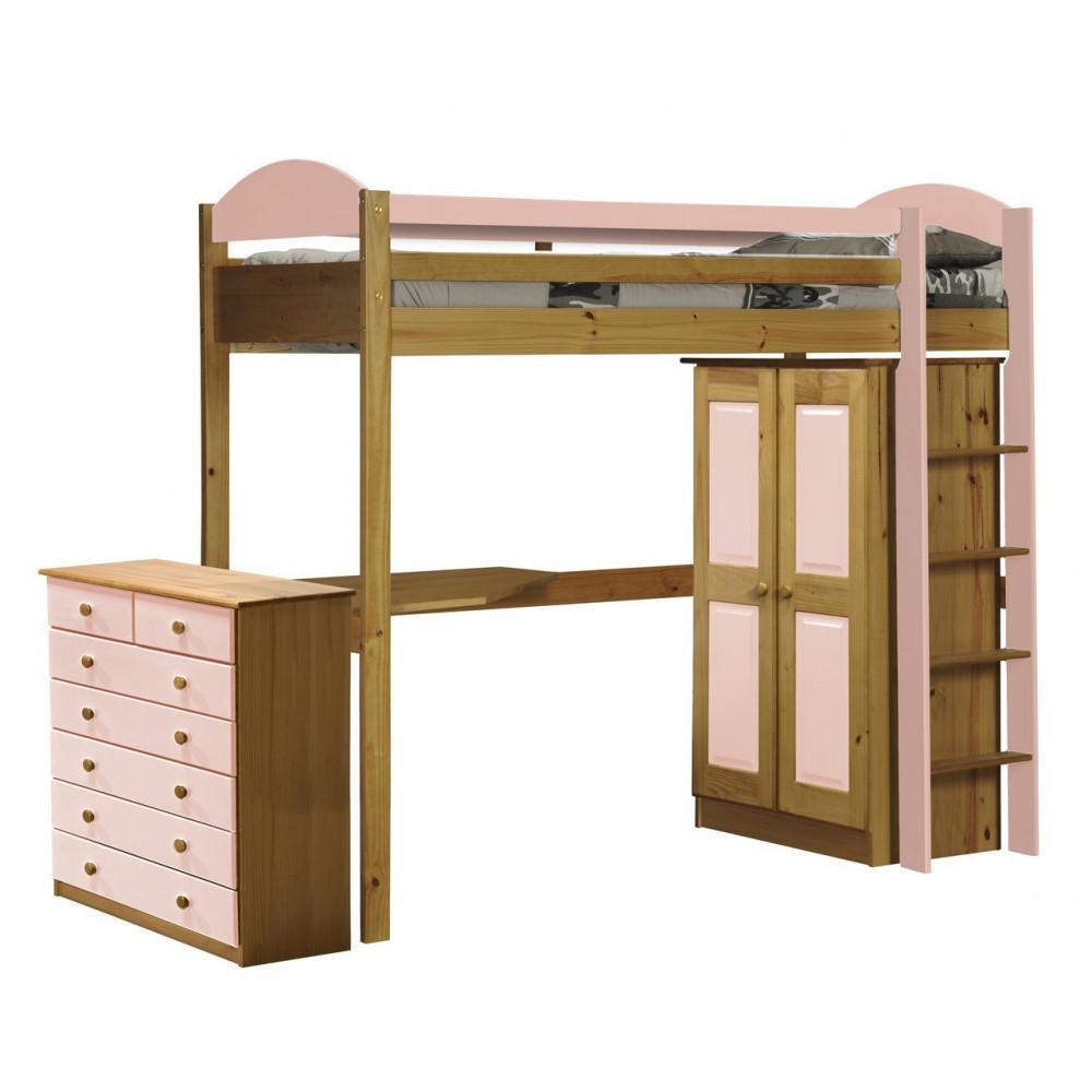 lit superpos s meubl 90x190 pin massif miel antique 11. Black Bedroom Furniture Sets. Home Design Ideas