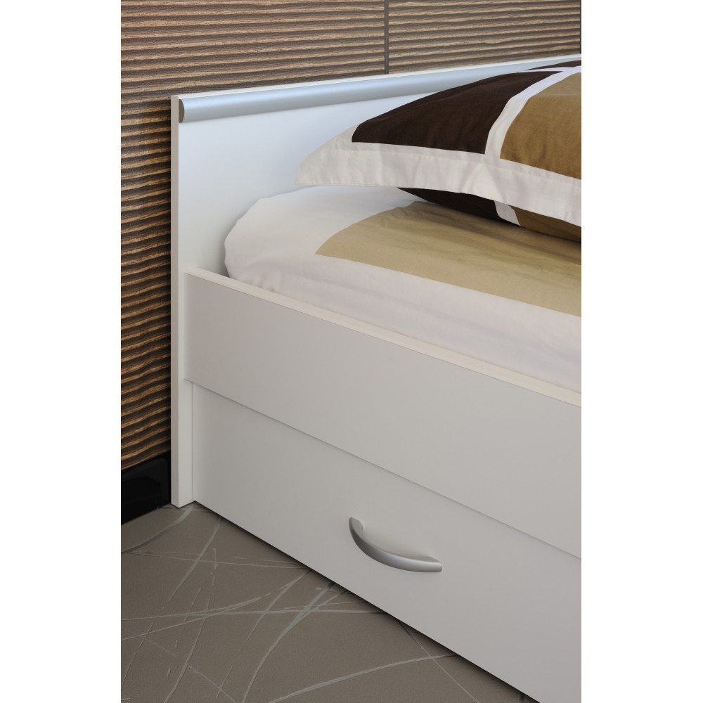 Lit meuble Blanc 140x200