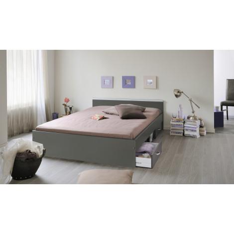 Lit meuble 140x200 Pin massif naturel