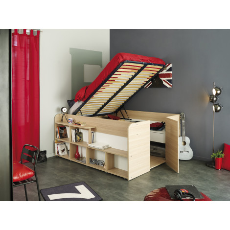 lit meuble CLASS 140x200 pin massif naturel