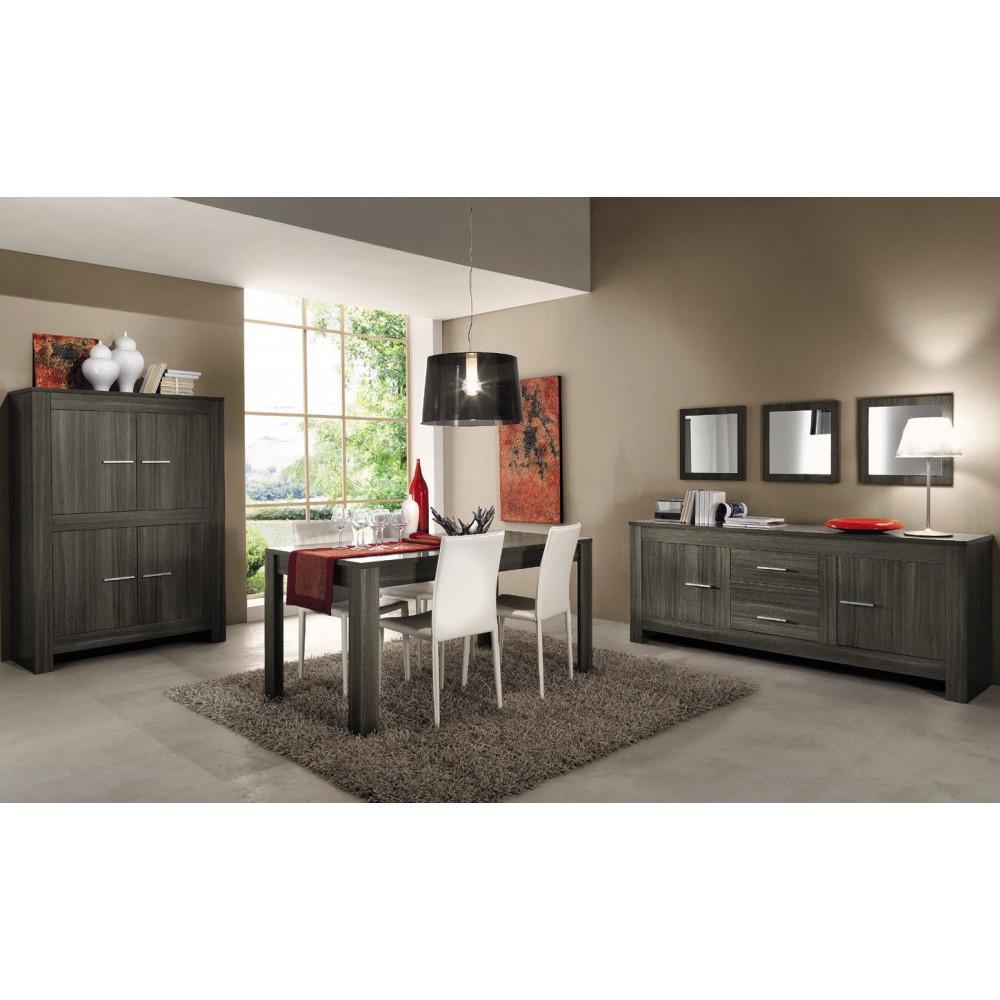 Table de salle a manger moderne chene gris diff rentes dimensions - Camere da pranzo moderne ...