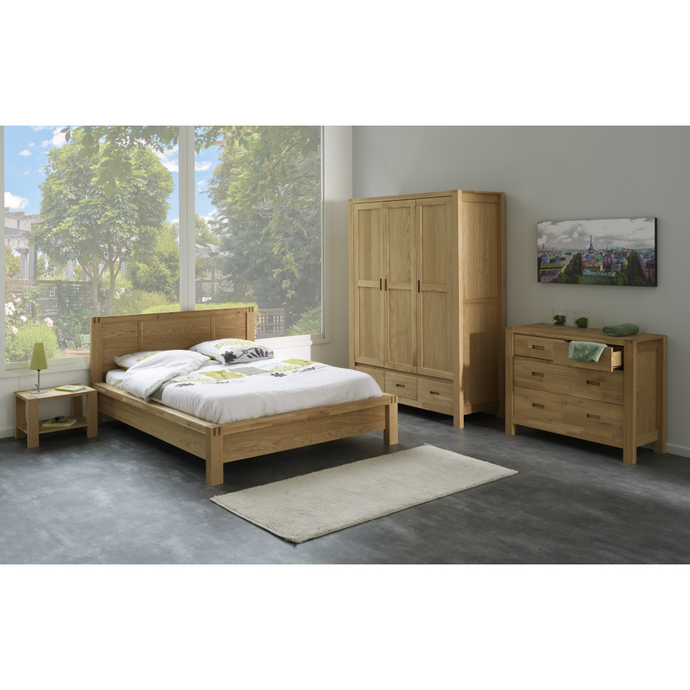 lit adulte moderne ch ne de qualit prix exceptionnel 140x200. Black Bedroom Furniture Sets. Home Design Ideas