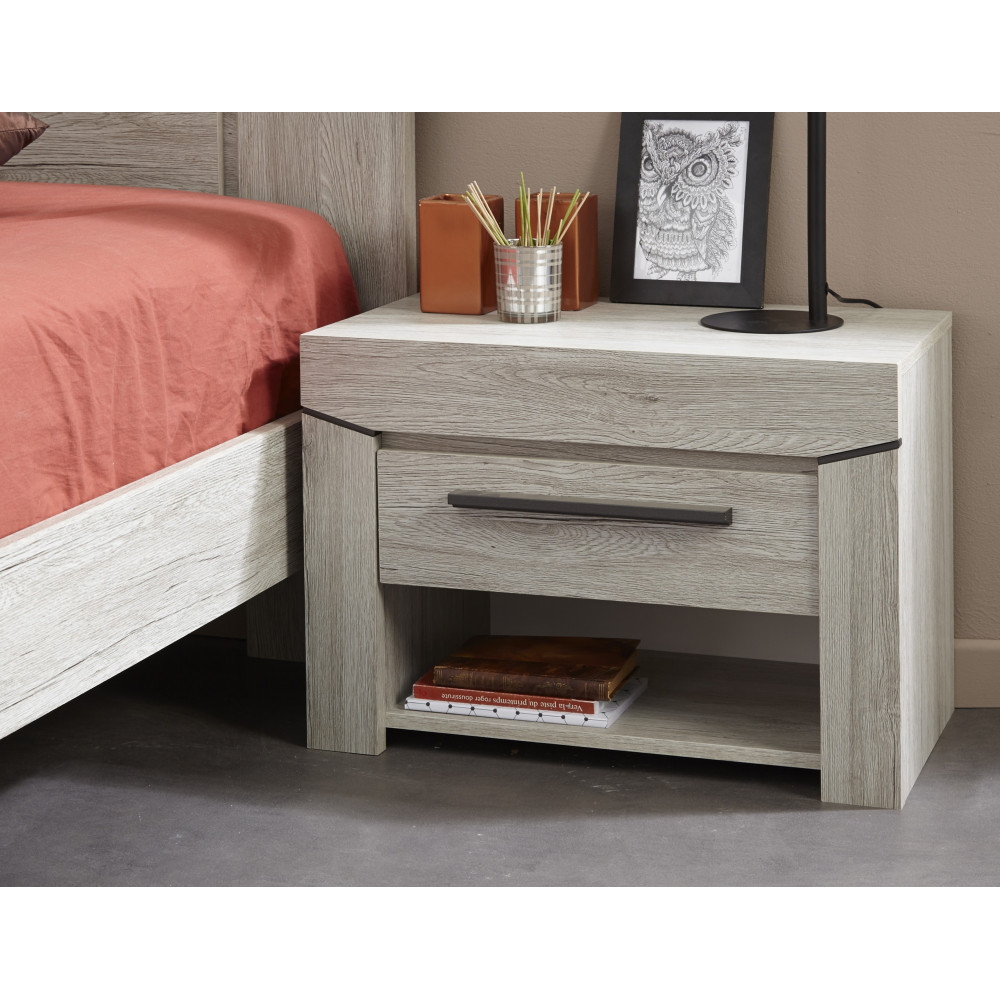 lit adulte moderne gris de qualit prix exceptionnel 140x190. Black Bedroom Furniture Sets. Home Design Ideas