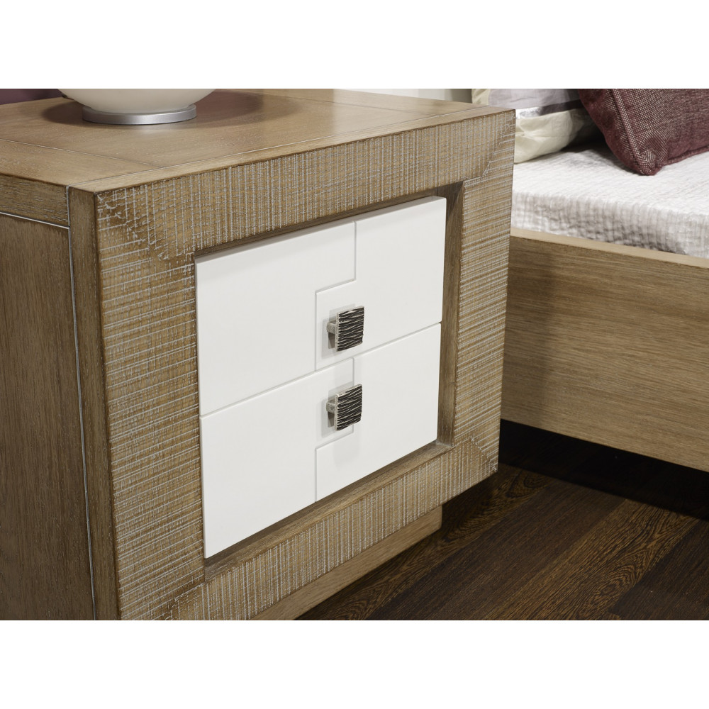 Chambre à cpicher PUZZLE - Chêne massif Blanc et chêne 180/280 cm-