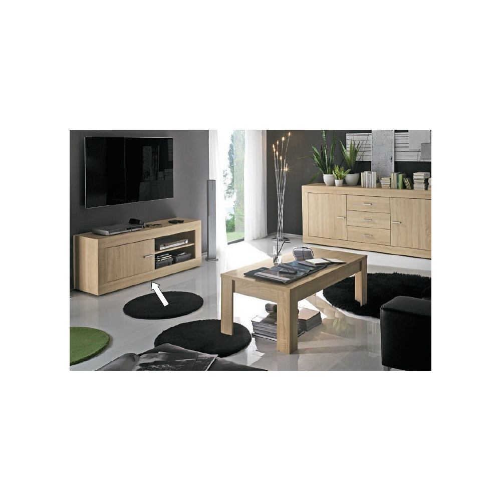 meuble t l vision design chene clair prix discount qualit. Black Bedroom Furniture Sets. Home Design Ideas