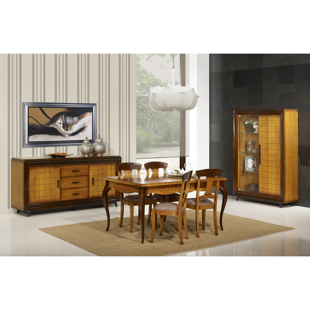 salle manger ch ne massif prestige 180 280 cm. Black Bedroom Furniture Sets. Home Design Ideas