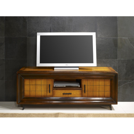 Meuble TV PRESTIGE - Chêne massif