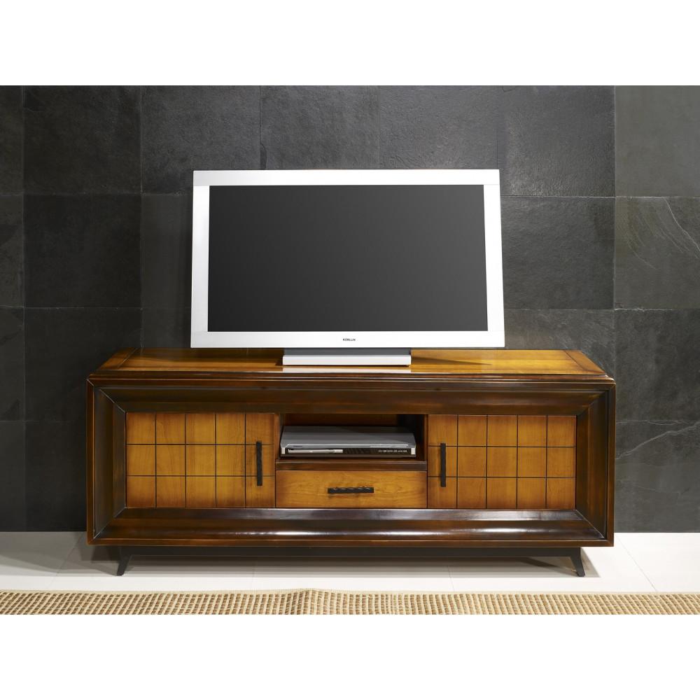 meuble tv ch ne massif prestige 180 280 cm. Black Bedroom Furniture Sets. Home Design Ideas