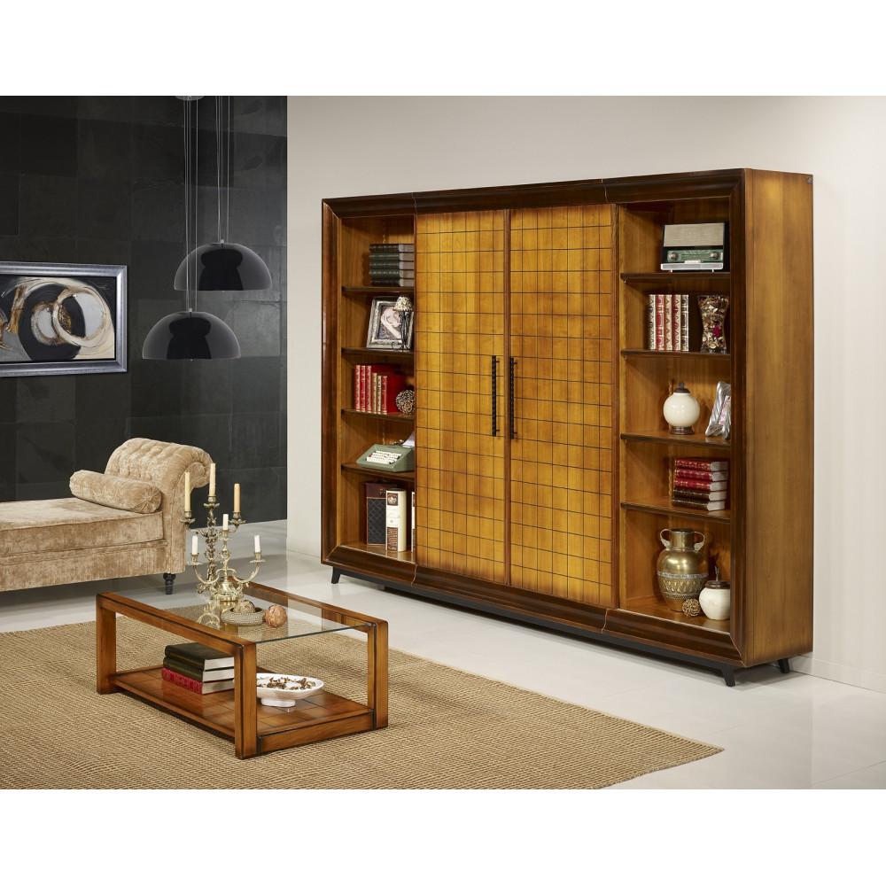 bahut bibliotheque ch ne massif prestige 180 280 cm. Black Bedroom Furniture Sets. Home Design Ideas