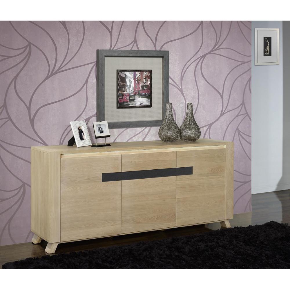 bahut sines bas 3 ou 4 portes 1 ou 4 tiroirs ch ne massif. Black Bedroom Furniture Sets. Home Design Ideas