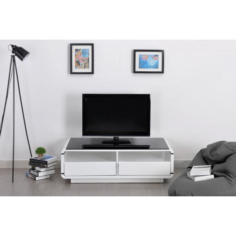 Meuble TV CLARIS blanc